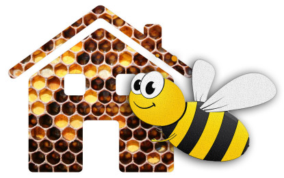 Wilde Bienen fliegen auf Rot von LANXESS