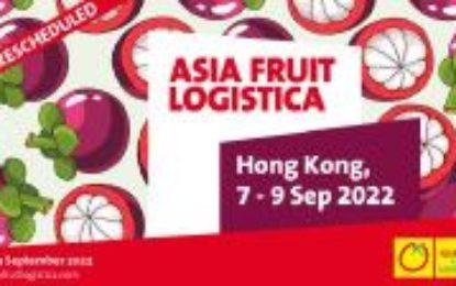 ASIA FRUIT LOGISTICA verschiebt den Termin auf September 2022