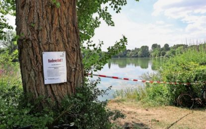 Erhöhtes Aufkommen von Blaualgen an Ricklinger Kiesteichen